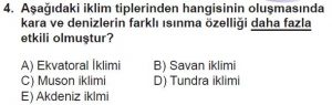12.lar Sınıf Coğrafya Test 12 Soru-4