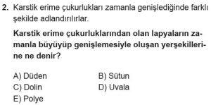 12.lar Sınıf Coğrafya Test 16 Soru-2