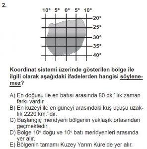 12.lar Sınıf Coğrafya Test 2 Soru-2