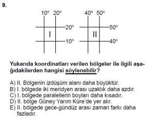 12.lar Sınıf Coğrafya Test 4 Soru-9