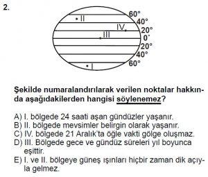 12.lar Sınıf Coğrafya Test 6 Soru-2
