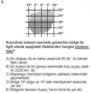 Mezun Coğrafya Test 2 Soru-2