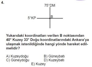 Mezun Coğrafya Test 2 Soru-4