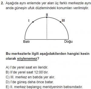 Mezun Coğrafya Test 5 Soru-2
