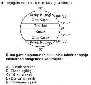 Mezun Coğrafya Test 7 Soru-5