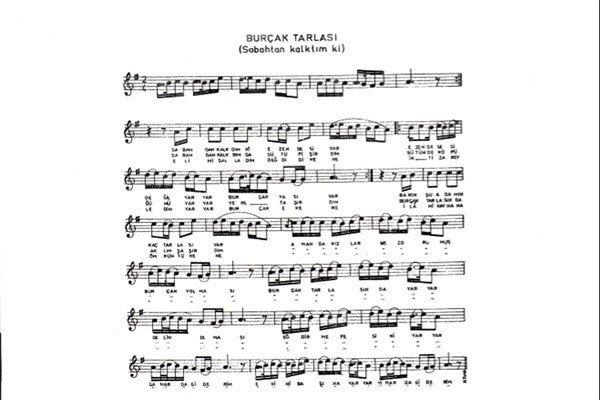 Burçak Tarlası Türküsünün Notaları3