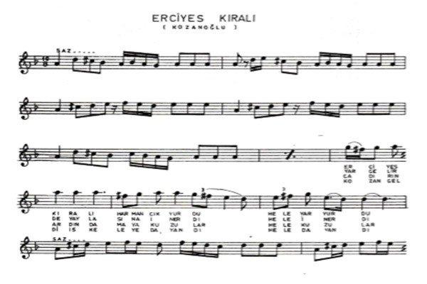 Erciyes Kralı Türküsünün Hikayesi Sözleri Notaları1
