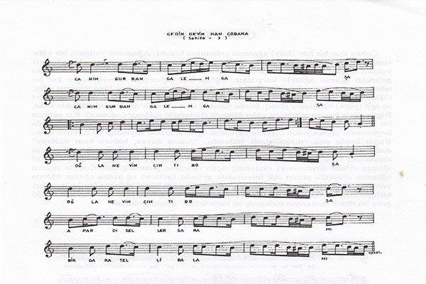 Gedin Deyin Han Çobana Türküsünün Notaları2