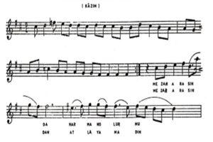 Kâzım'ın Ağıtı Türküsünün Notaları1