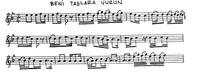 Töre Türküsünün Notaları