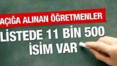 10 Eylül 2016 Açığa Alınan 11500 Öğretmenin İsmi Açıklandı