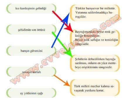7. sınıf Türkçe Meram Yayınları Bayrak 5. Etkinlik