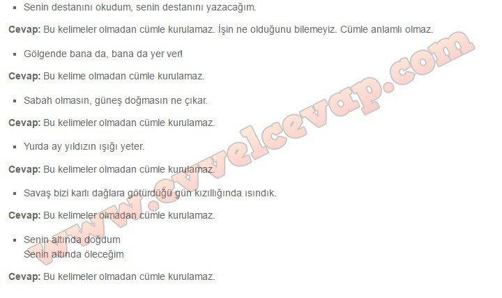 7. sınıf Türkçe Meram Yayınları Bayrak 8. Etkinlik