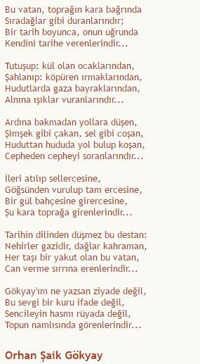 Bayrak Ve Vatan Sevgisi Hakkında Bir şiir