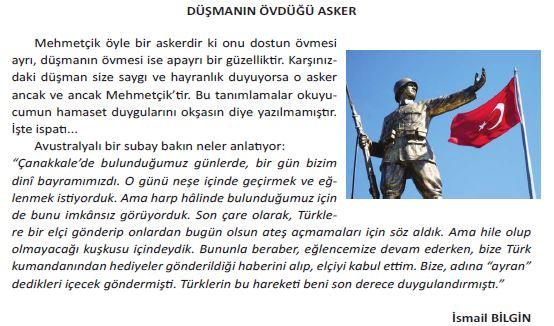 5.Sınıf MEB Yayınları  Türkçe Ders Kitabı Tema Değerlendirme Soruları  (68. ve 69.Sayfa Cevapları)