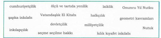 8. Sınıf Dörtel Yayınları Türkçe Çalışma Kitabı 2.Tema Üretim Atatürk'ün Kişiliği Cevapları (Sayfa 36-58  Arası)