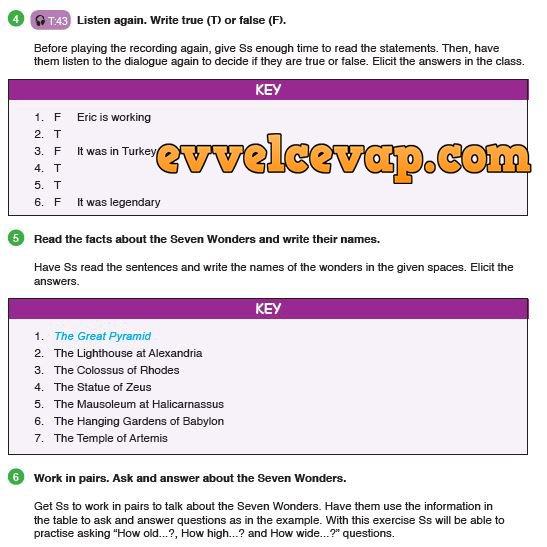 9 Sınıf Meb Yayınları Ingilizce Ders Kitabı Sayfa 87 Cevabı