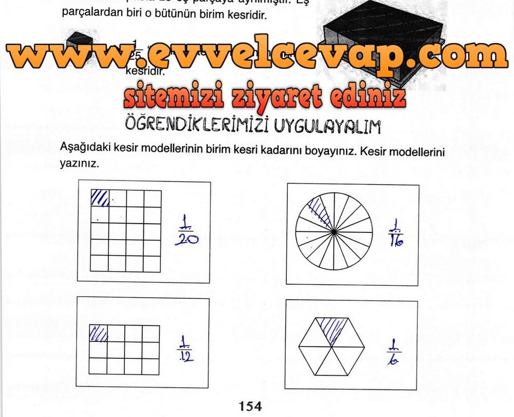 3. Sınıf Ada Yayıncılık Matematik Ders Kitabı Sayfa 154 Cevabı