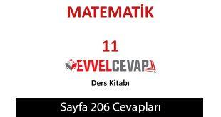 11. Sınıf Meb Yayınları Matematik Ders Kitabı Sayfa 206 Cevabı
