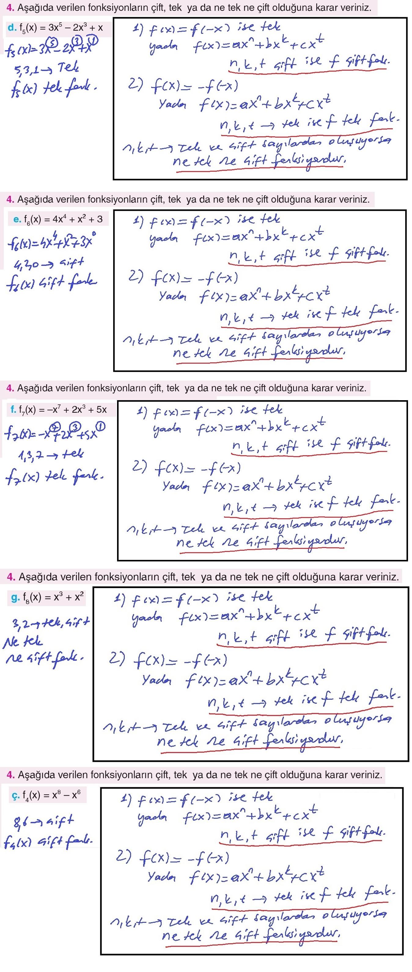 11 Sınıf Top Yayıncılık Matematik Ders Kitabı Sayfa 199 Cevabı