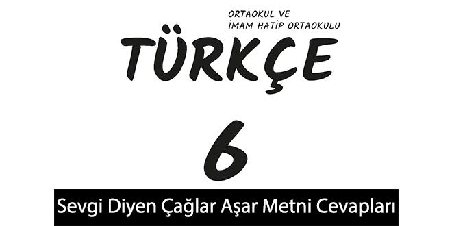 Sevgi Diyen Çağlar Aşar Metni Etkinlik Cevapları (6. Sınıf Türkçe)