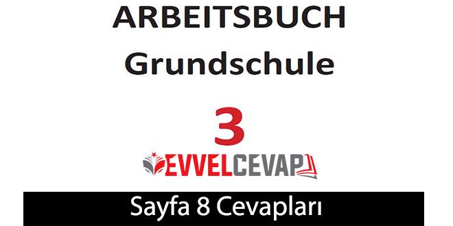 3. Sınıf Almanca A1 çalışma kitabı sayfa 8 cevapları meb yayınları