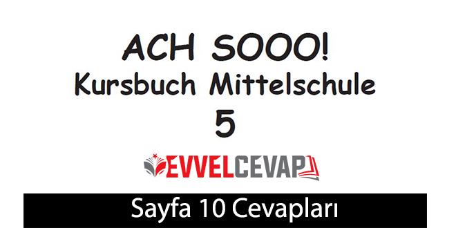 5. Sınıf Almanca A2-1 ders kitabı sayfa 10 cevapları meb yayınları