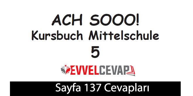 5. Sınıf Almanca A2-1 ders kitabı sayfa 137 cevapları meb yayınları