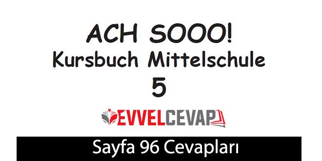 5. Sınıf Almanca A2-1 ders kitabı sayfa 96 cevapları meb yayınları