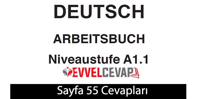Almanca A1-1 çalışma kitabı sayfa 55 cevapları ata yayınları