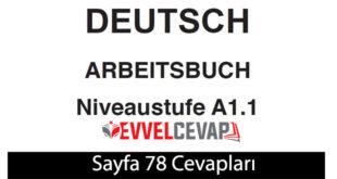 Almanca A1-1 çalışma kitabı sayfa 78 cevapları ata yayınları