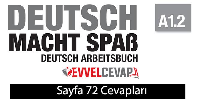 Almanca A1.2 Arbeitsbuch Çalışma Kitabı Sayfa 72 Cevabı Meb Yayınları