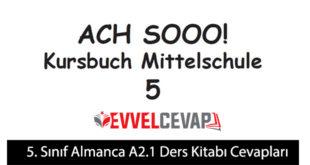 5. Sınıf Almanca A2.1 Ders Kitabı Cevapları Meb Yayınları
