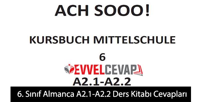 6. Sınıf Almanca A2.1-A2.2 Ders Kitabı Cevapları Meb Yayınları