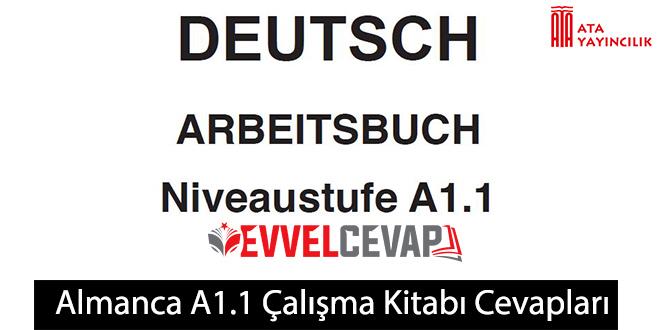 Almanca A1.1 Çalışma Kitabı Cevapları Ata Yayınları