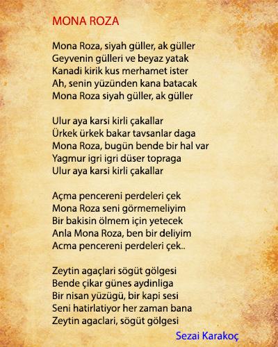 Mona Roza Şiir İncelemesi