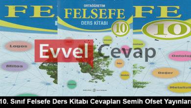 10. Sınıf Felsefe Ders Kitabı Cevapları Semih Ofset Yayınları