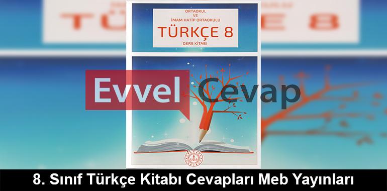 8. Sınıf Türkçe Ders Kitabı Cevapları Meb Yayınları 2019-2020