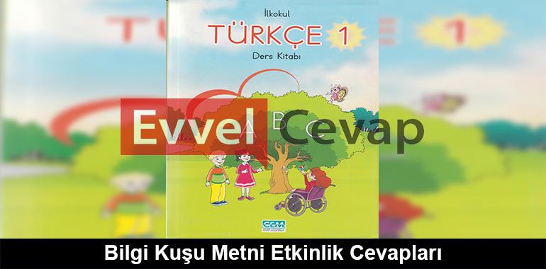 Bilgi Kusu Metni Etkinlik Cevaplari 1 Sinif Turkce