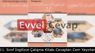 11. Sınıf İngilizce Çalışma Kitabı Cevapları Cem Yayınları