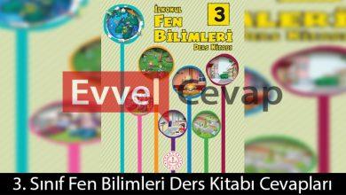 3. Sınıf Fen Bilimleri Ders Kitabı Cevapları Meb Yayınları