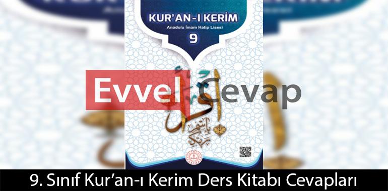 9. Sınıf Kur'an-ı Kerim Ders Kitabı Cevapları Meb Yayınları